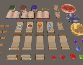 Handpainted Fantasy Item Pack 3D asset