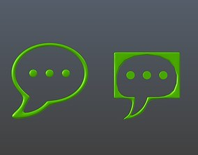 3D Communication Technology Icons