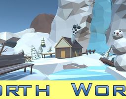 3D model Low Poly North World