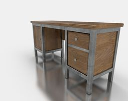 3D asset Work Desk