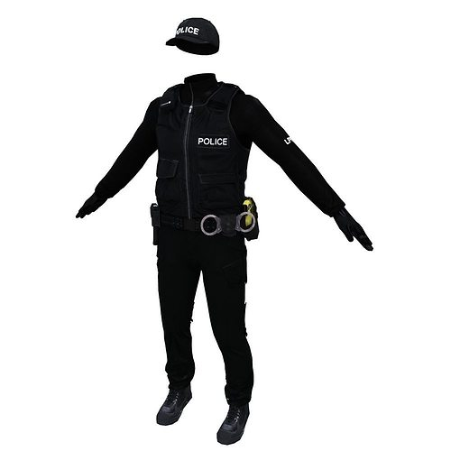 police officer 3d model obj mtl fbx ma mb 1