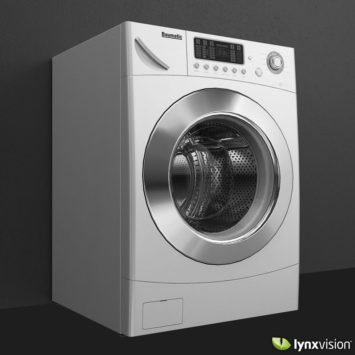 Baumatic Mega10wd Washer And Dryer 3d Model Max Obj