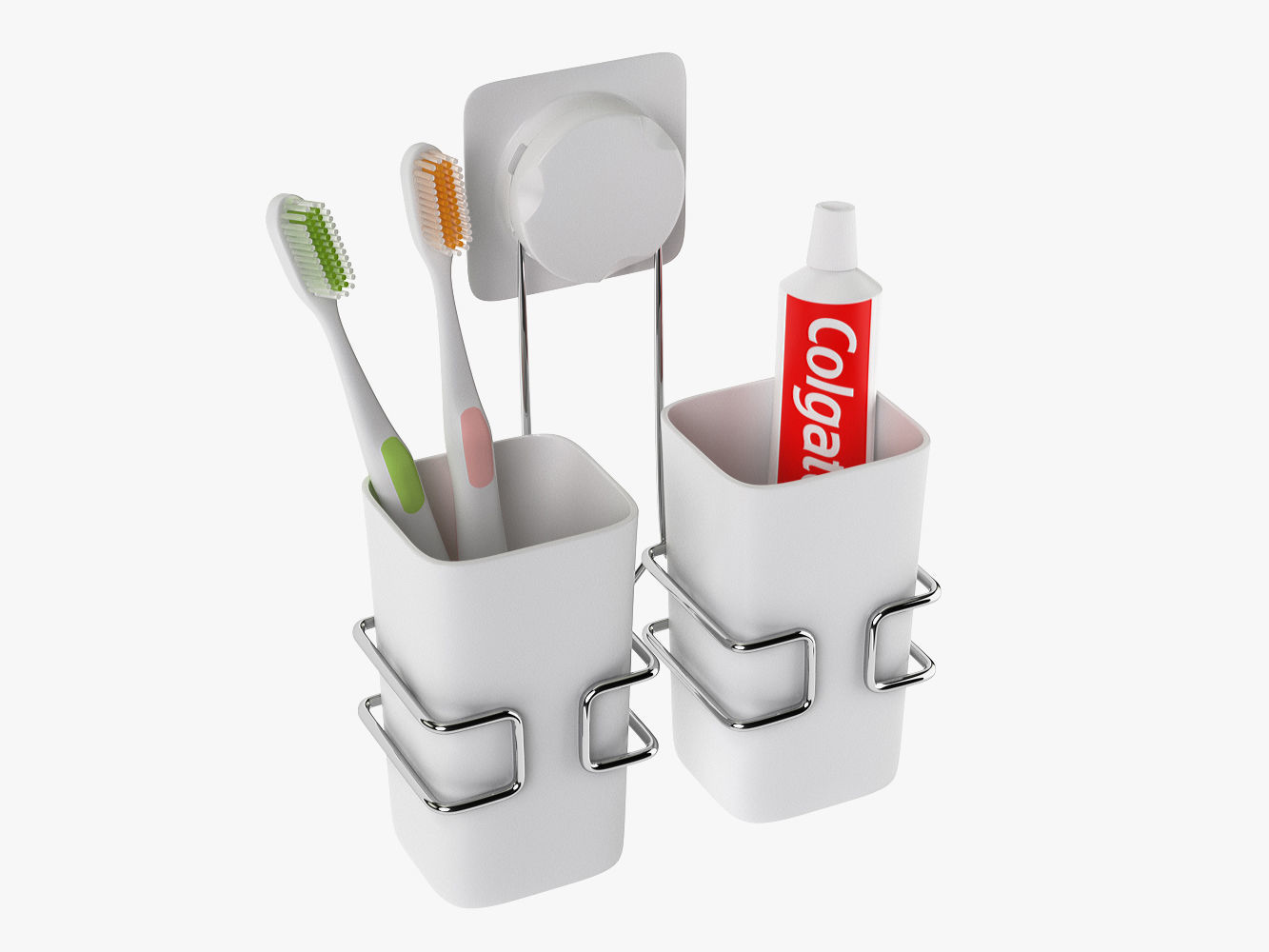 Cup Hanging Bathroom Toothbrush Holder