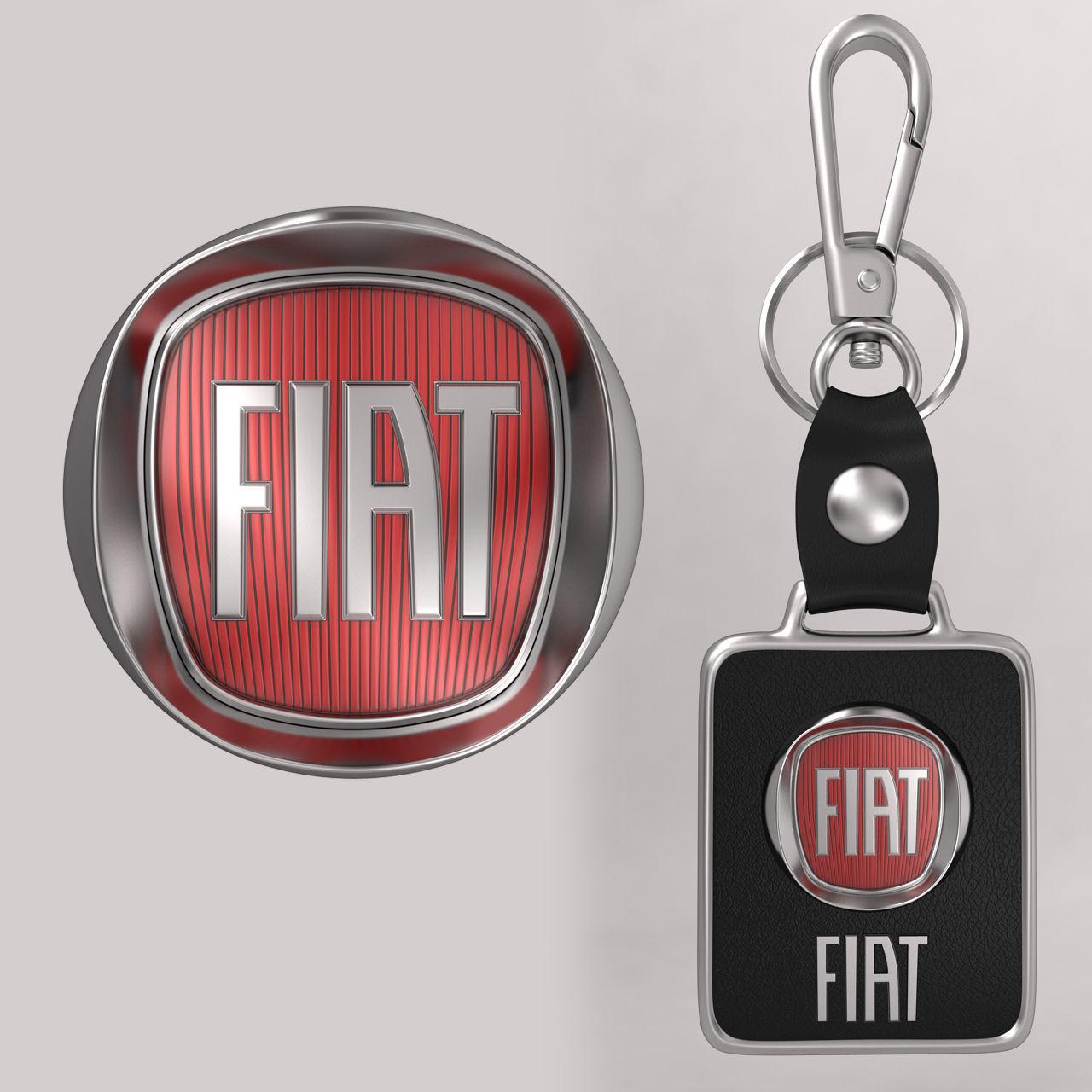 Fiat Car Logo 3d Model Cgtrader