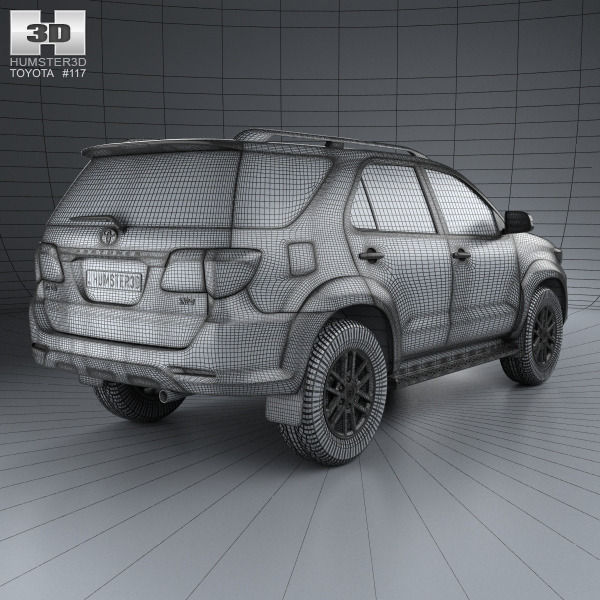 toyota fortuner with hq interior 2013 3d model max obj 3ds fbx c4d lwo lw lws. Black Bedroom Furniture Sets. Home Design Ideas