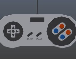 3D asset Low poly Game Controller