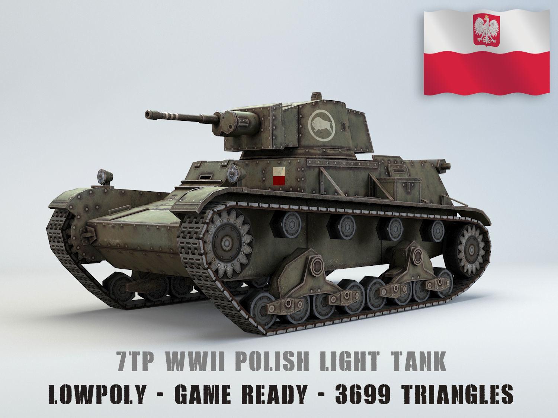 Low Poly 7TP light tank