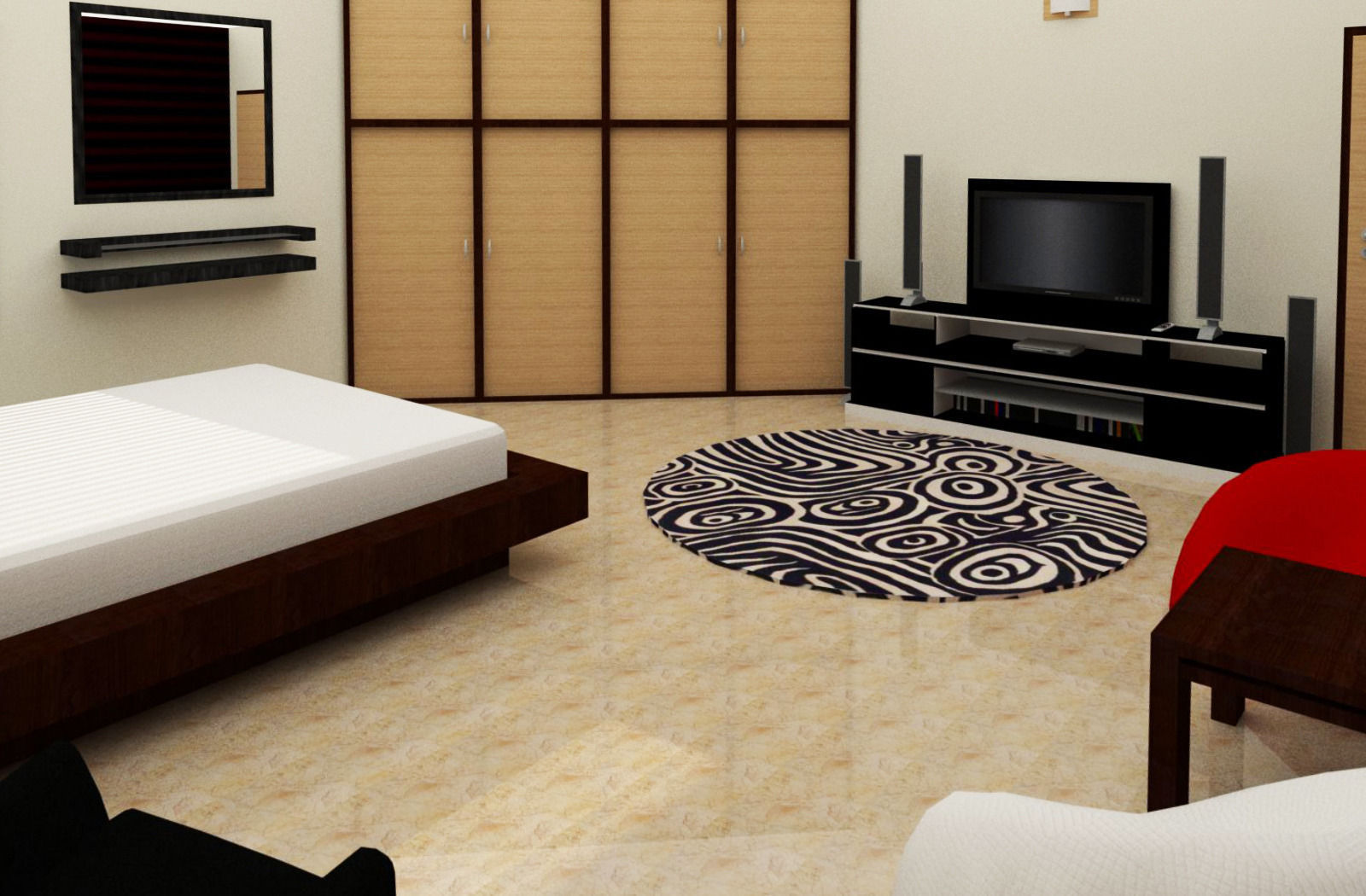 Simple Room Interior 3d Model Skp Cgtrader Com