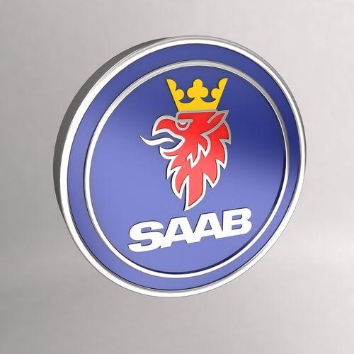 Chrome Saab Car Logo Keychain 3d Model Cgtrader