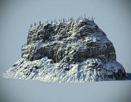 SNOW ROCK 03 3D Model