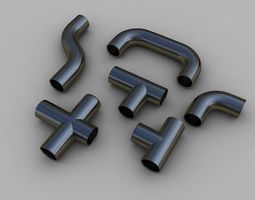 3D model Elbow Pipe