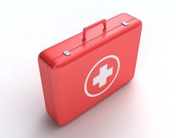 First Aid Kit white 3D model