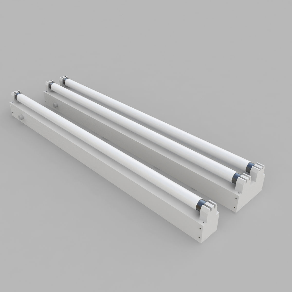 Strip Fluorescent Fixture Single and Dual