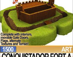 Conquistador Fort A 1500 3D Model