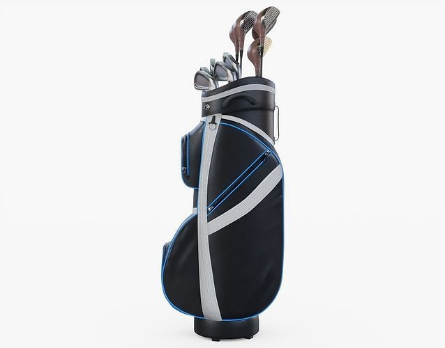 golf bag and clubs 3d model obj mtl 3ds fbx stl blend 1