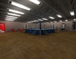 Boxing Gym 3D model