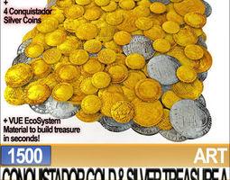 Conquistador Gold And Silver Treasure 1500 3D Model
