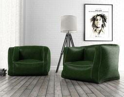 3D model Rilius leather armchair