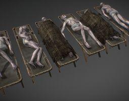 Dead bodies 3D asset