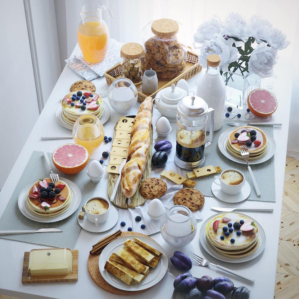 Serving table breakfast - 2