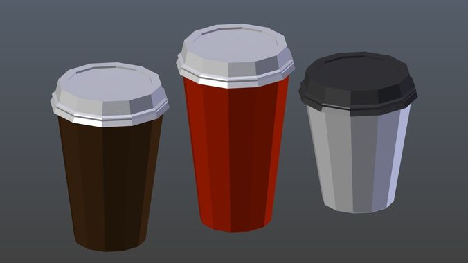 Low poly Coffee Cup 1
