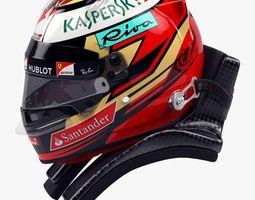 Kimi Raikkonen 2017 style Racing helmet 3D model