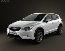 Subaru XV 2012 with HQ Interior 3D model crosstrek