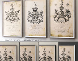 RH ENGLISH ARMORIAL LARGE ENGRAVING COLLECTION 3D model