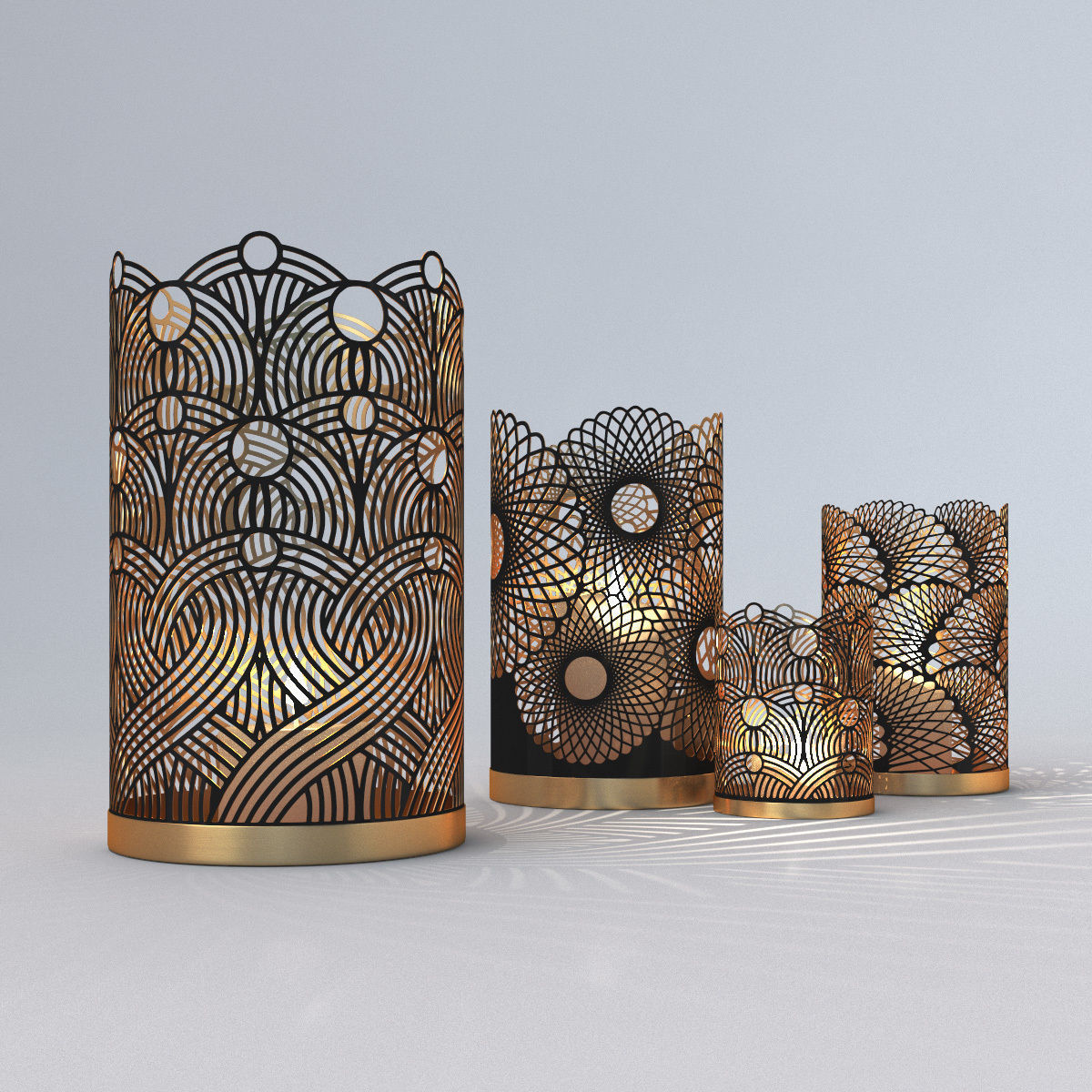 Decorative Openwork Candle Holders