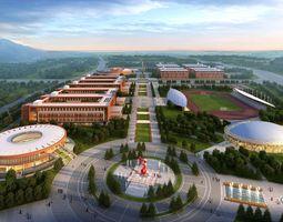 3D Architecture 052 college