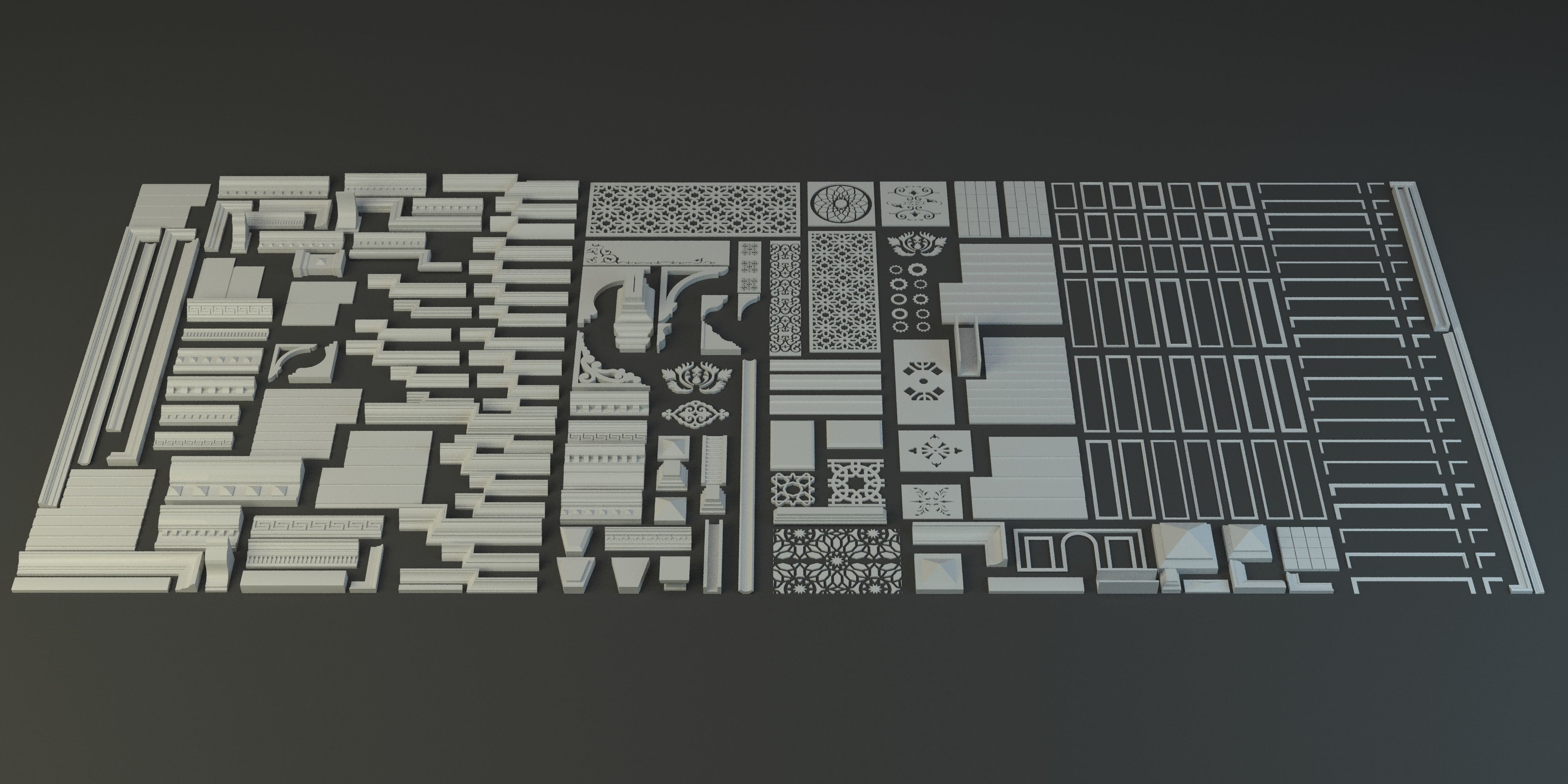 Architecture Kitbash Collection | 3D model