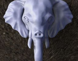 3D printable model elephant mammoth