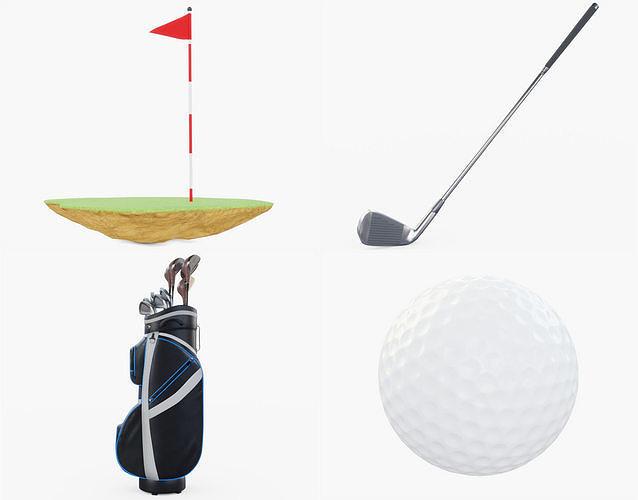 golf collection lite 3d model obj mtl 3ds fbx stl blend 1