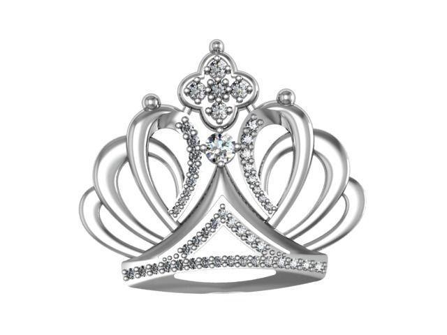 brooch crown 3d model stl 3dm 1