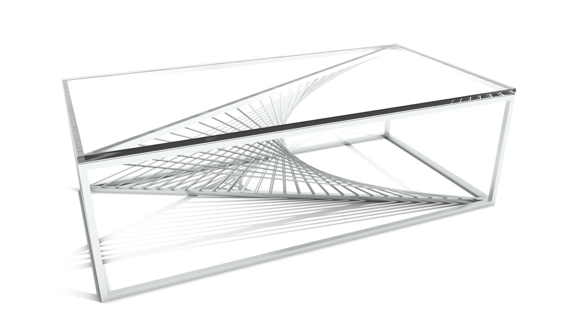 Sprial Wire Base Coffee Table Cgtrader