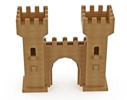 3D model cardboard tower