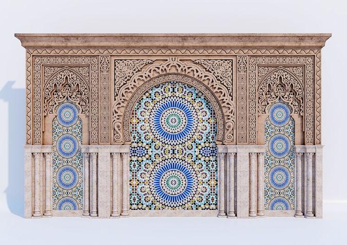islamic arches 3d model max obj mtl 1