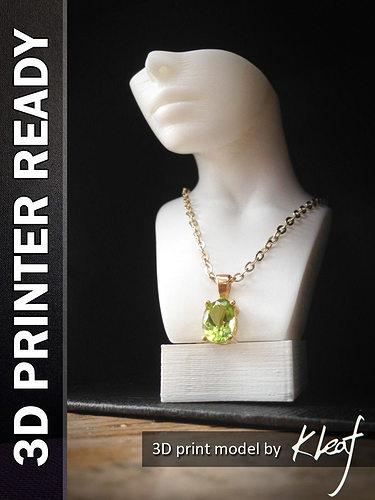necklace stand 3d model obj fbx ma mb stl 1