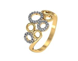 Ring Bubbles from set 3djewelry 3D printable model