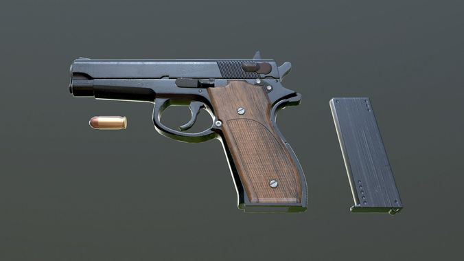 pistol mk 22 3d model obj mtl 1