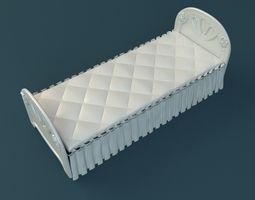 Girl Bed 3D model