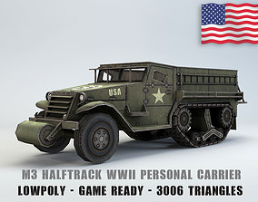 Low Poly M3 Half-track Personal Carrier 3D model