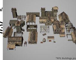 Village L1 3D asset