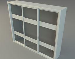 Glass Dresser 3D asset