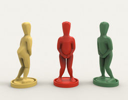 3D print model Earphone Holder - Dropped Pants