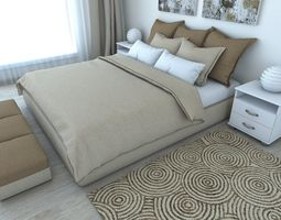 3d nice bedroom