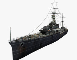 3D Old Warship 01