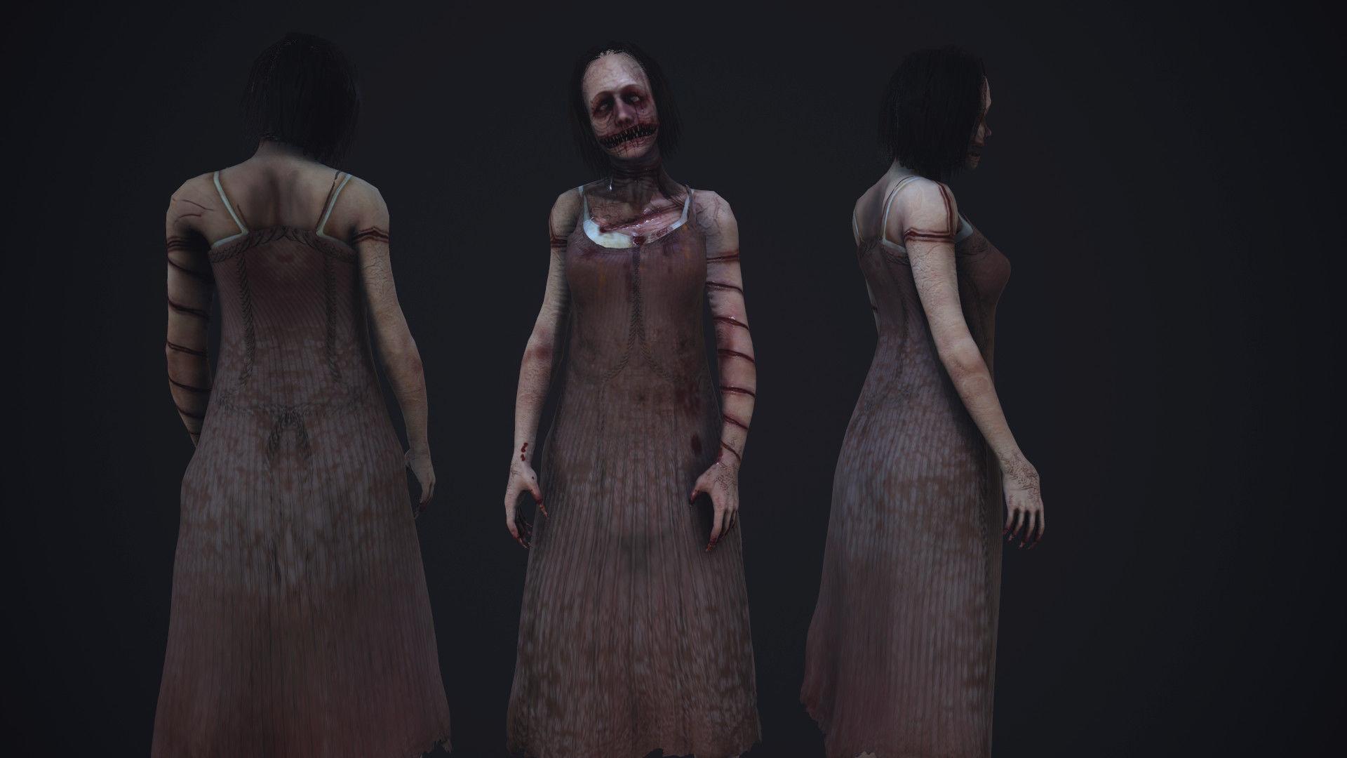 Super creepy female horror enemy AAA