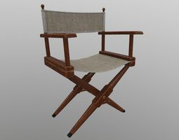 Director Chair film 3D model