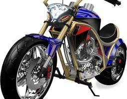 3D model Concept Bike S1 Chopper